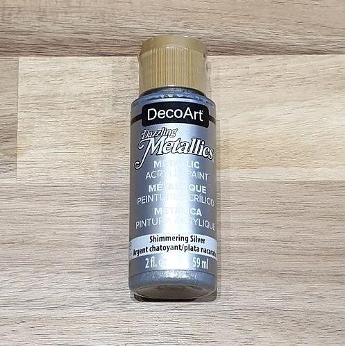 DecoArt Dazzling Metalics Silver 59ml