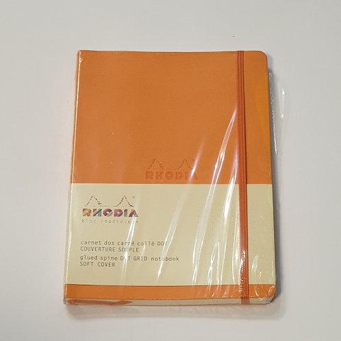 Rhodia Orange Dot Grid Soft-Cover Notebook 14.8x21cm