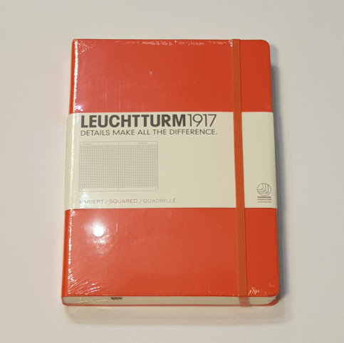 Leuchterm A5 Medium Notebook Hardback Orange