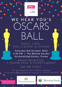 We Hear You Charity Ball Poster