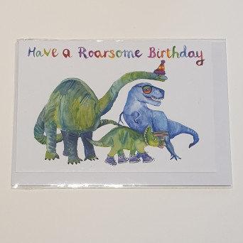 Rosie Webb Roarsome Birthday Card
