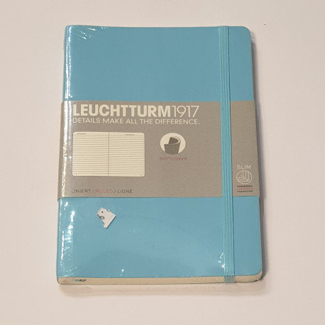 Leuchterm B5 Composition Notebook Softcover Nordic Blue