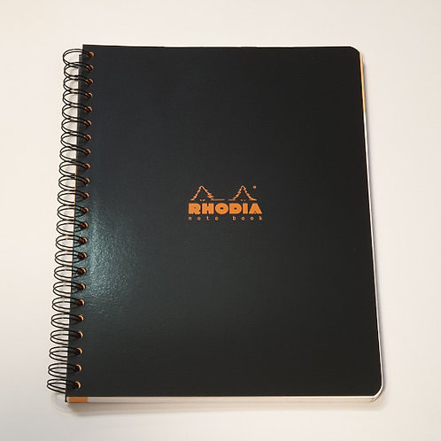Rhodia Black Lined Notebook 22.5x29.7cm