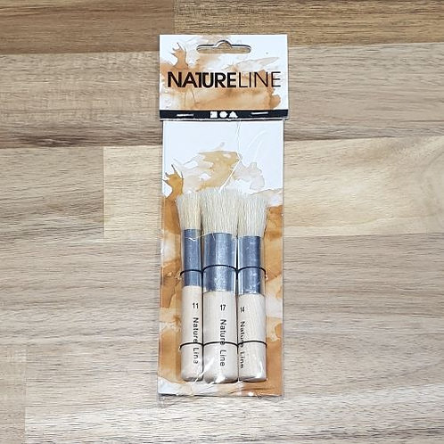 Nature Line Brushes 3 Pk