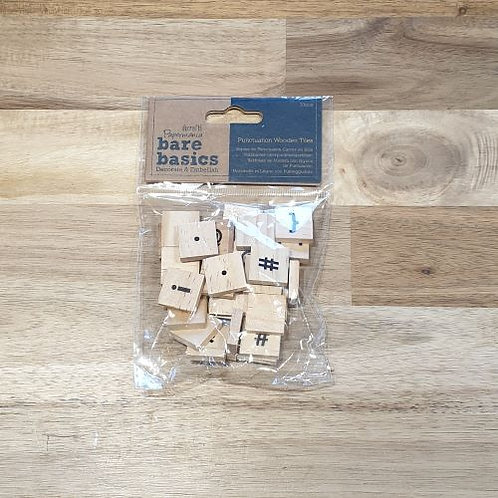 docrafts Punctuation Wooden Tiles