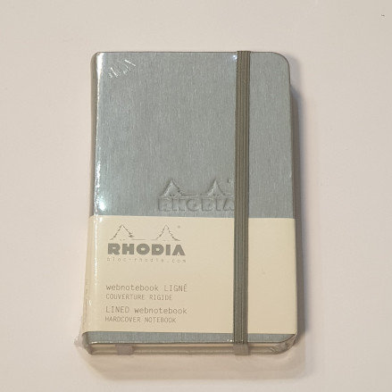 Rhodia Silver Lined Hardcover Notebook 9x14cm