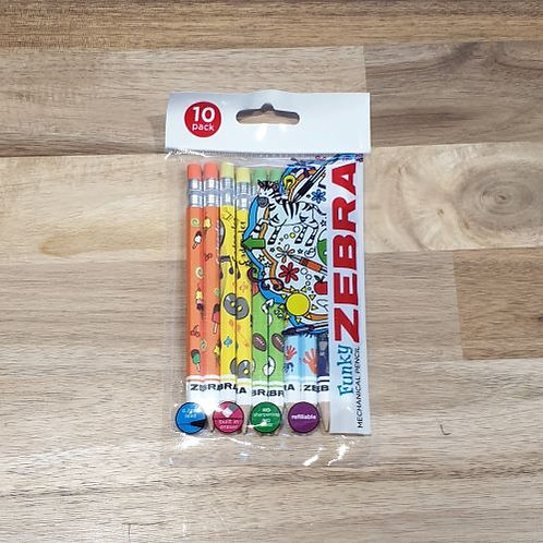 Zebra Funky Mechanical Pencil 10 Pk
