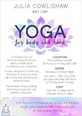 Julia Cowlishaw Yoga Poster