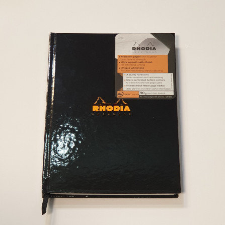 Rhodia Black A5 Notebook