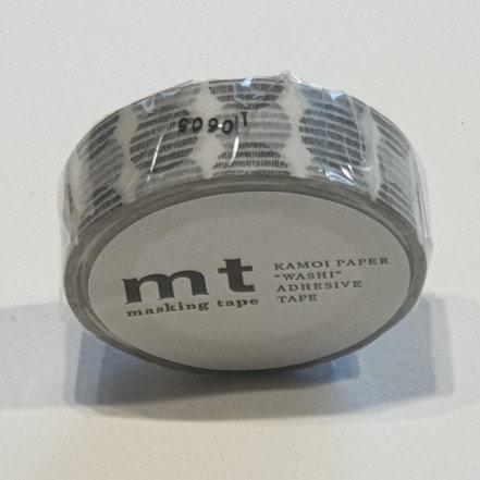 Masking Tape Script Dot Monochrome