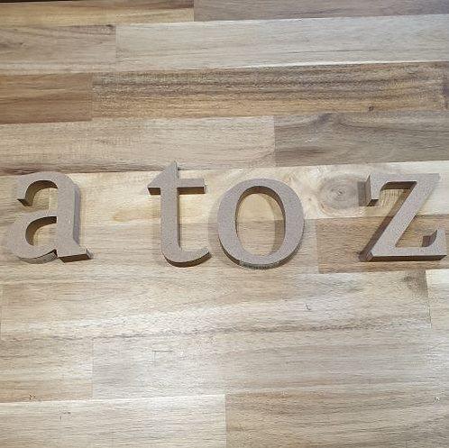 Wooden Letters A to Z Small Individual