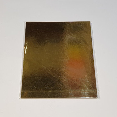 Gold Metalic Foil Card A4 10 Sheets