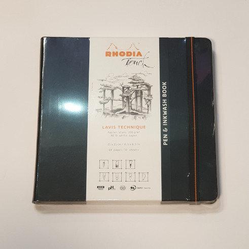 Rhodia Touch Pen & Inkwash Book 21x21cm