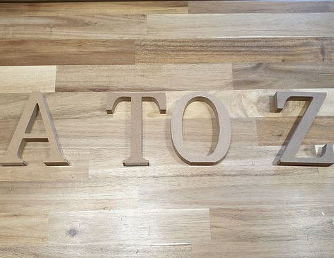Wooden Letters A to Z Large Individual