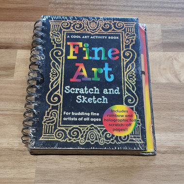 Fine Art Scratch & Sketch Activity Book