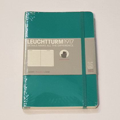 Leuchterm B5 Composition Notebook Softcover Emerald