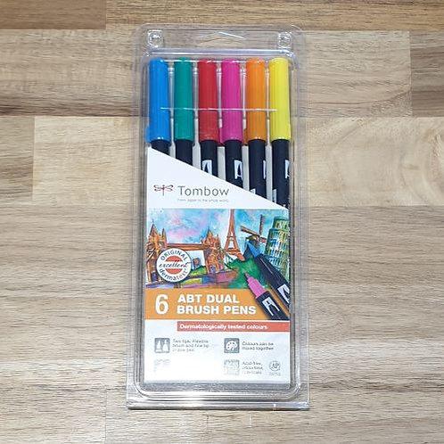 Tombow Brush Pens 6 Pk