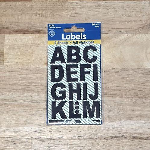 Labels Full Alphabet