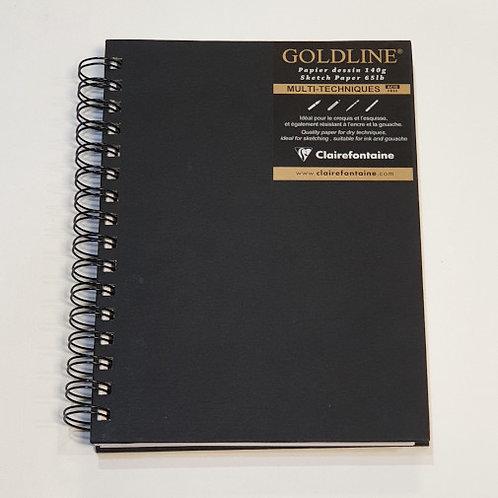 Clairefontaine Goldline Multi-Techniques Wire Bound 14,8x21cm