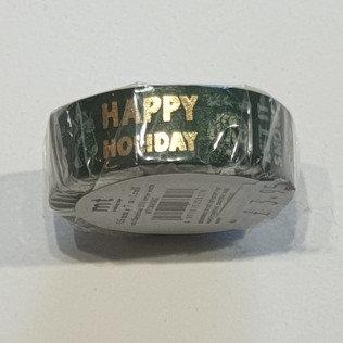 Washi Tape Happy Birthday Black