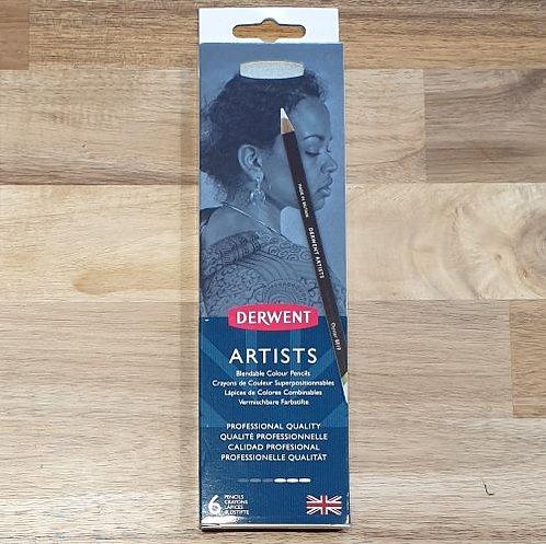 Derwent Artists Blendable Pencils 6 Pk