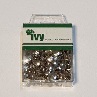 Ivy 150 Nickel Drawing Pins