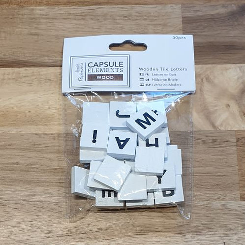 Capsule Wooden Tile Letters