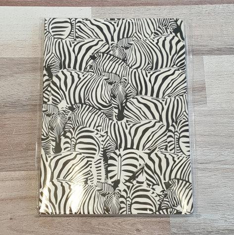Zebra Wallpaper A5 Notebook