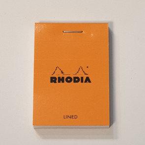 Rhodia Orange Lined Notebook 5.2x7.5cm