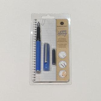 Manuscript Hand Lettering Blue Pen