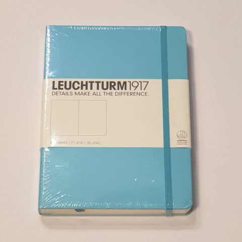 Leuchterm A5 Medium Notebook Hardback Ice Blue