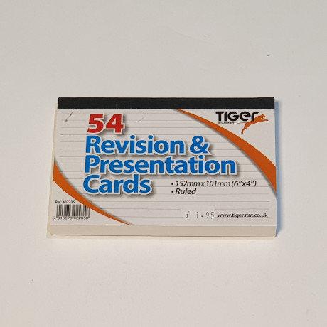 Tiger 54 Revision & Presentation Cards