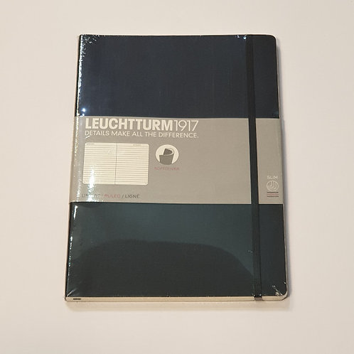 Leuchterm A4 Slim Softcover Notebook Black