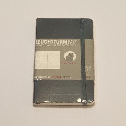Leuchterm A6 Pocket Notebook Softcover Grey