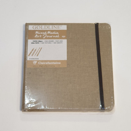 Clairefontaine Goldline Mixed Media Art Journal 32 Sheets 15x15cm