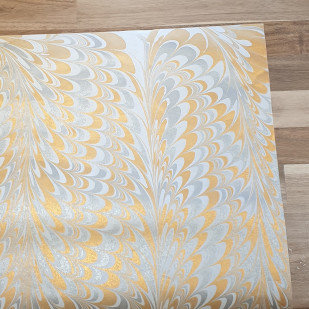 Papermirchi Marbled White Wrapping Paper