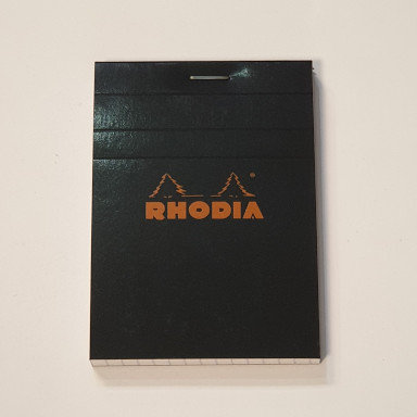 Rhodia Black Lined Notebook 7.4x10.5cm