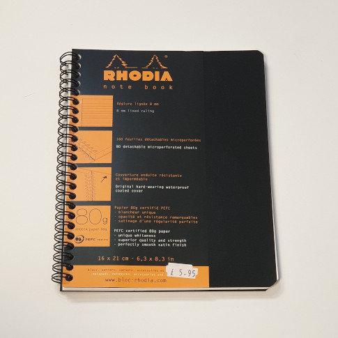 Rhodia Black A5 Notebook