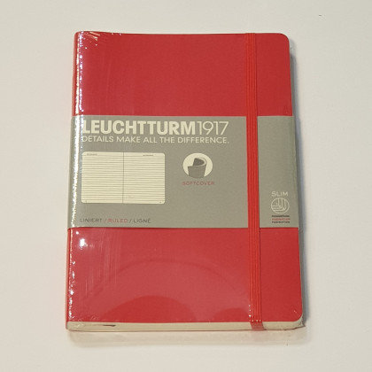 Leuchterm B5 Composition Notebook Softcover Red
