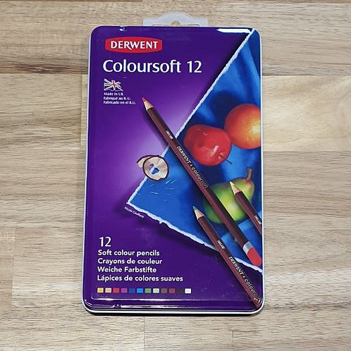 Derwent Colour Soft Pencil Set 12 Pk