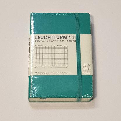 Leuchterm A6 Pocket Notebook Hardback Emerald