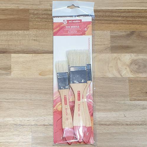 Art Creation Hog Bristle Brush Set