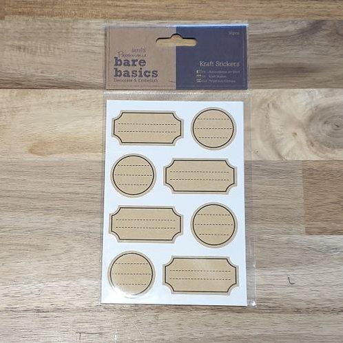 docrafts Kraft Stickers