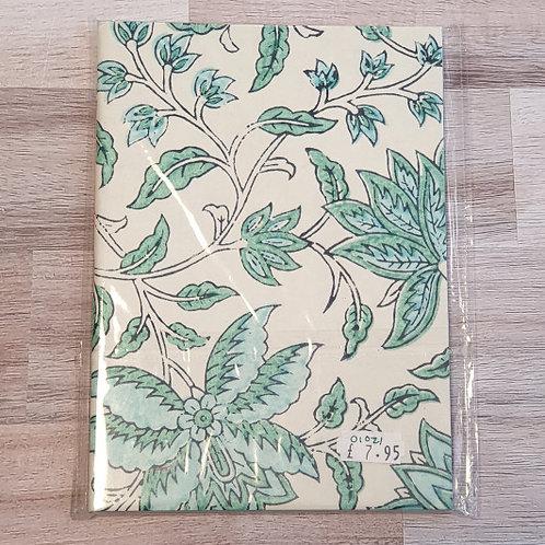 Green Papermirchi Block Printed B6 Notebook