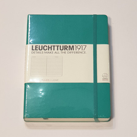 Leuchterm A5 Medium Notebook Hardback Emerald