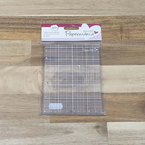docrafts Papermania Clear Stamp Block 4x5 1-4inches