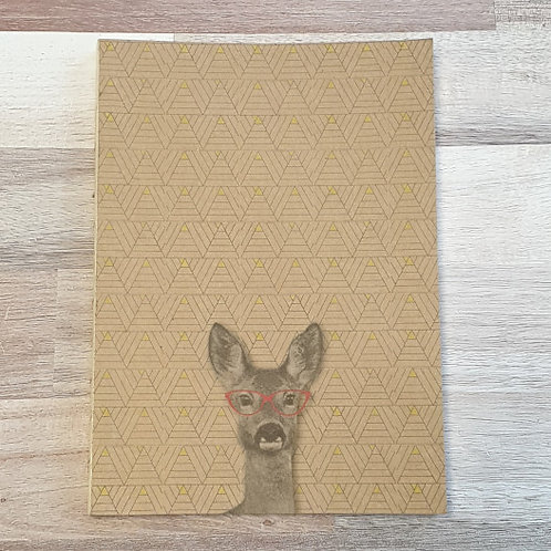 Funny Company Deer Clothbound A5 Notebook