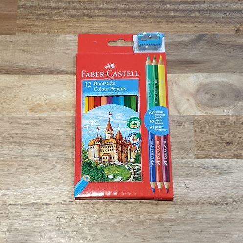 Faber-Castell 12 Colour Pencils