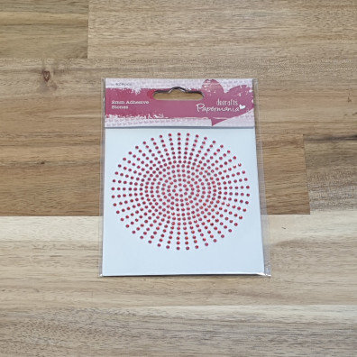docrafts Papermania 2mm Adhesive Stones Red