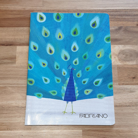 Fabriano A4 Peacock Lined Notepad